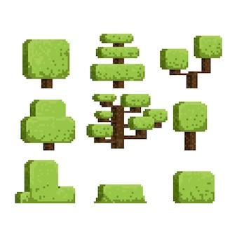 Jeu d'arbres 8 bits