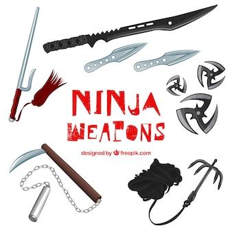 Jeu d'armes ninja