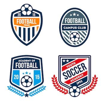Jeu de badges de football