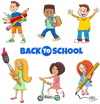 Jeu de bande dessinée pour les enfants des élèves à l'école