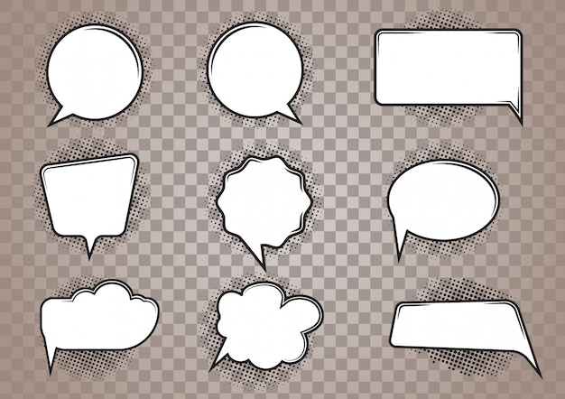Jeu de bandes dessinées de discours