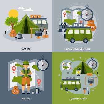 Jeu de bannière de camping