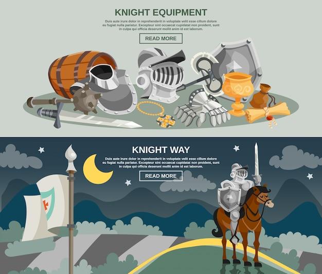 Jeu de bannière chevalier