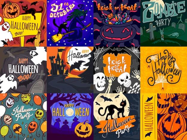Jeu de bannière halloween