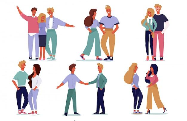 Jeu de bannière joyful communication young people