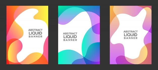 Jeu de bannière liquide coloré