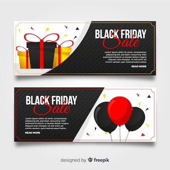 Jeu de bannière noir vendredi ballons vente
