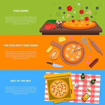 Jeu de bannière de pizza