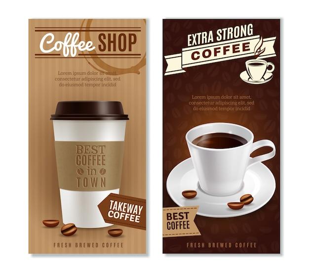 Jeu de bannières de café