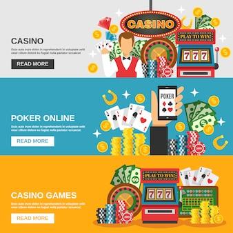 Jeu de bannières de casino