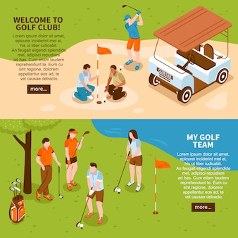Jeu de bannières de golf