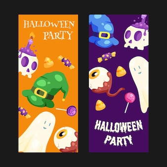 Jeu de bannières halloween
