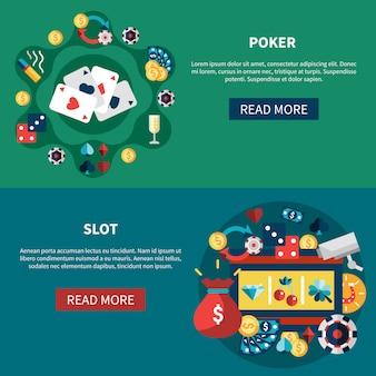 Jeu de bannières de jeux de casino