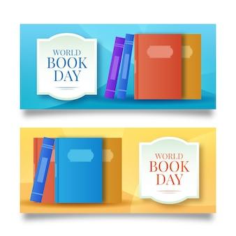 Jeu de bannières de la journée mondiale du livre