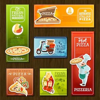 Jeu de bannières de pizza