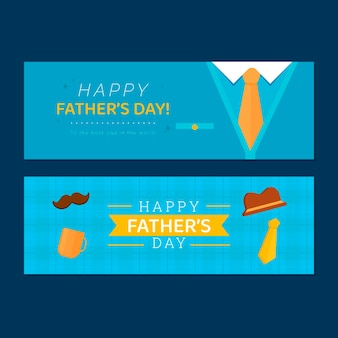 Jeu de bannières plat \ fête des pères