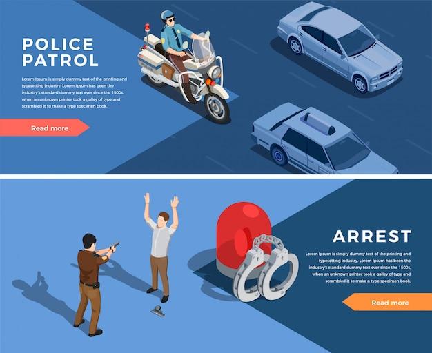 Jeu de bannières de police