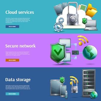 Jeu de bannières de stockage et de protection des données