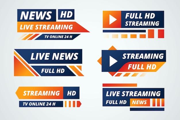 Jeu de bannières de streaming en direct