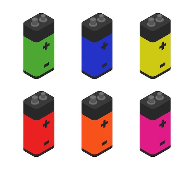 Jeu de batteries isométriques