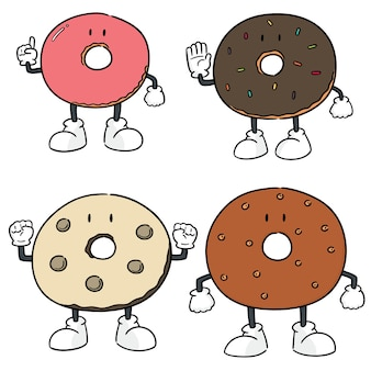 Jeu de beignets vectorielles