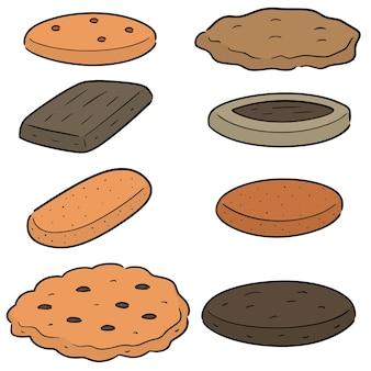 Jeu de biscuits et de biscuits vectorielles