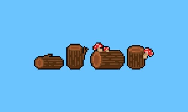 Jeu de bois de dessin animé pixel art. 8 bits.