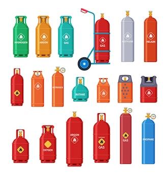 Jeu de bouteilles de gaz