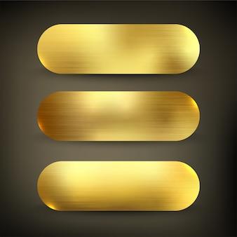 Jeu de boutons de couleur or