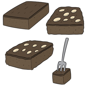 Jeu de brownies vectorielles