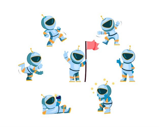 Jeu de caractères astronaute