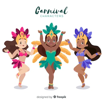 Jeu de caractères de carnaval
