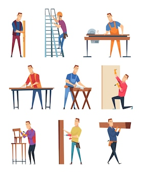 Jeu de caractères de charpentier
