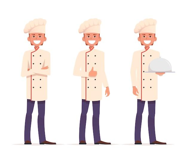 Jeu de caractères de chef cuisinier