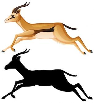 Jeu de caractères de dessin animé de gazelle