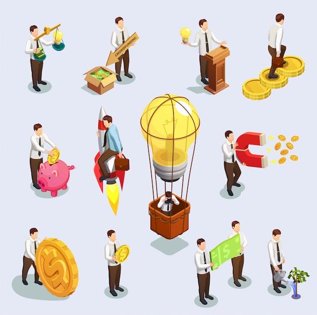 Jeu de caractères de financement participatif