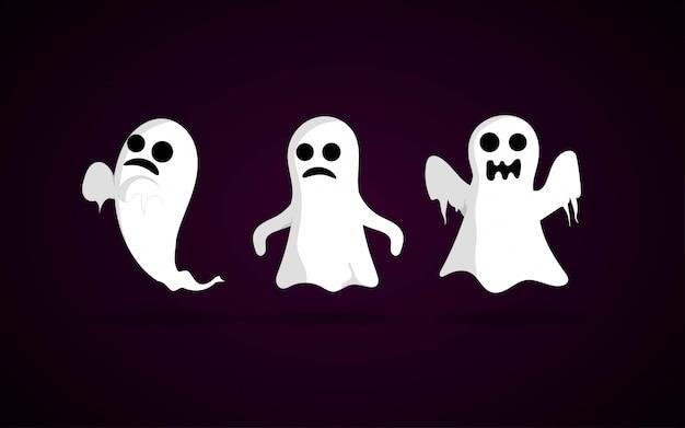 Jeu de caractères halloween fantôme