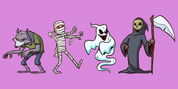 Jeu de caractères halloween
