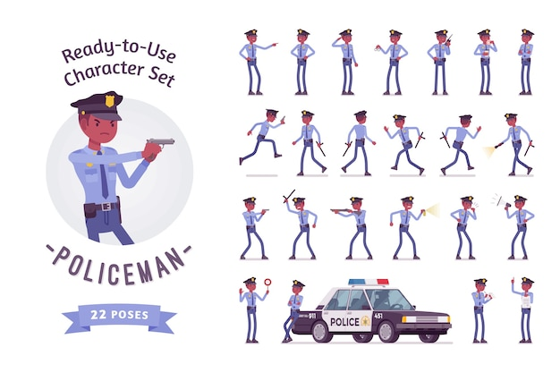Jeu de caractères de policier