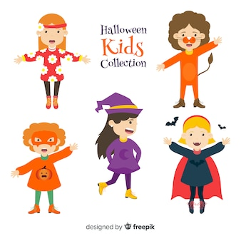 Jeu de caractères pour enfants halloween