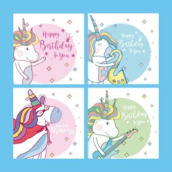 Jeu de carte de joyeux anniversaire