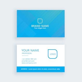 Jeu de carte de visite simple moderne, modèle ou carte de visite