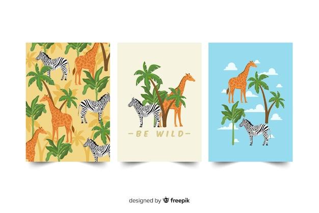Jeu de cartes d'animaux sauvages