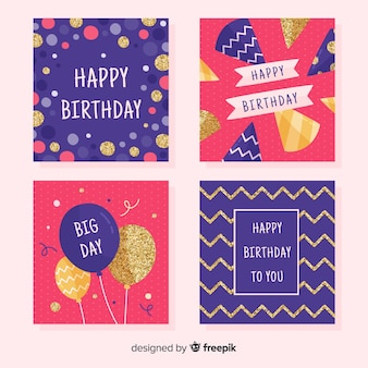 Jeu de cartes d'anniversaire
