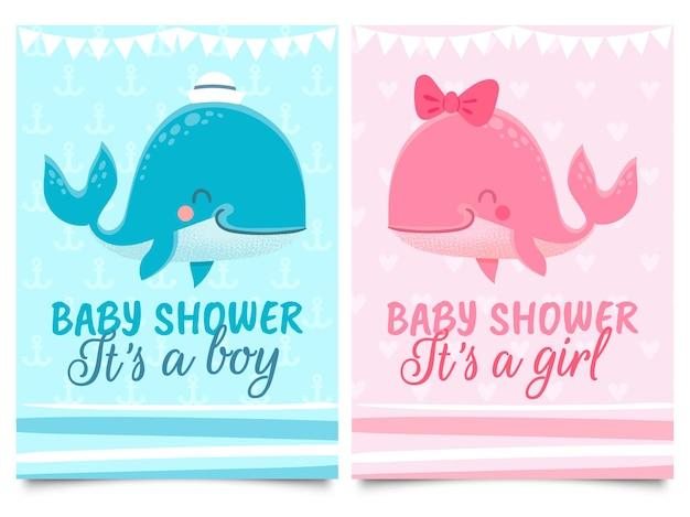 Jeu de cartes de douche de bébé