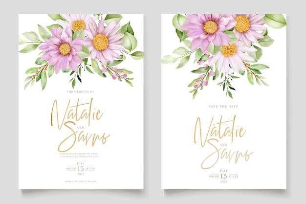 Jeu de cartes florales marguerites dessinées à la main