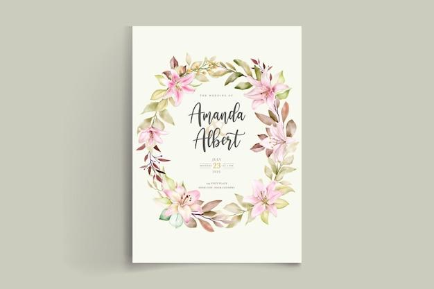 Jeu de cartes d'invitation aquarelle fleur de lys