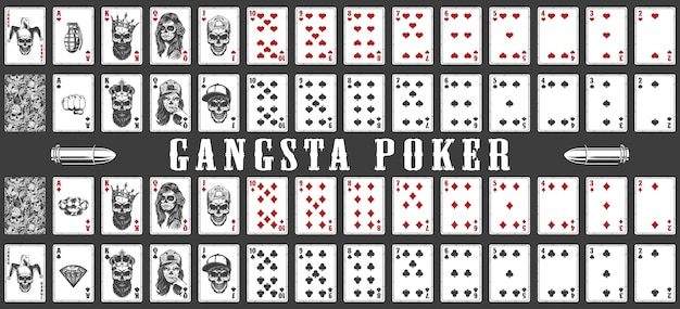 Jeu de cartes à jouer gangsta