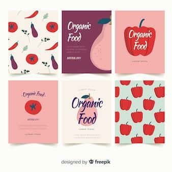 Jeu de cartes de légumes