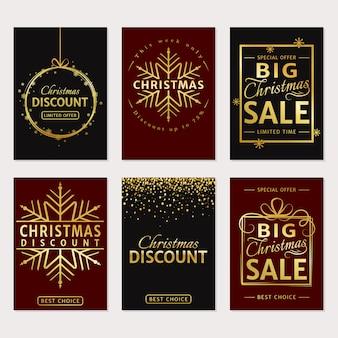 Jeu de cartes de luxe vente de noël ou de bannières